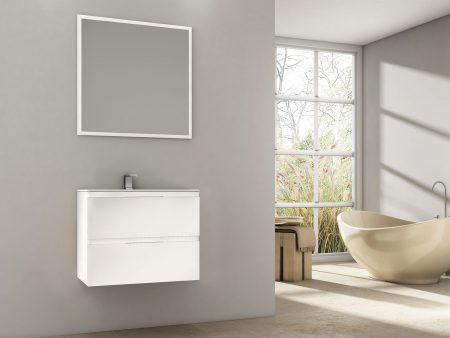 Mueble de baño en blanco