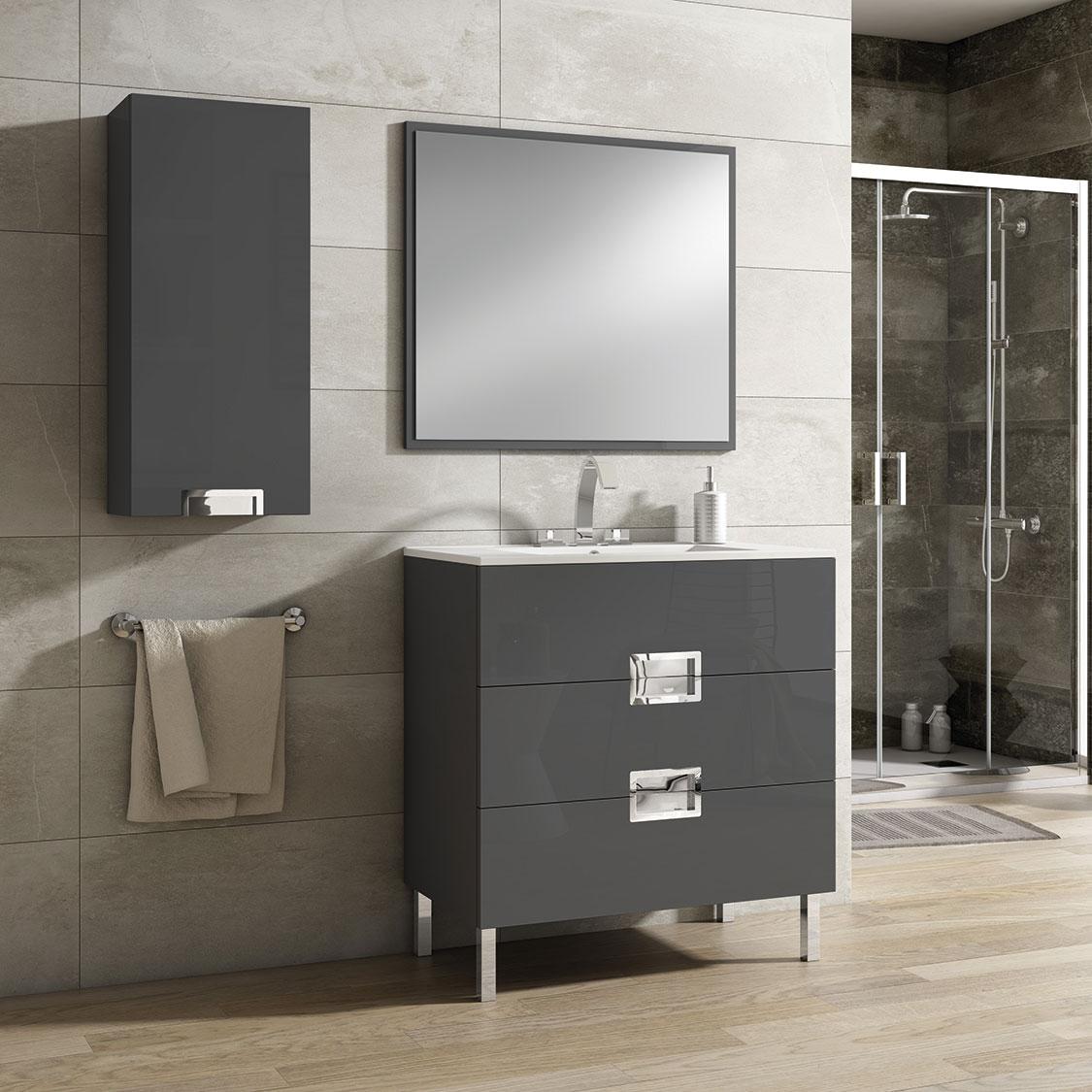 Mueble de baño ÓPERA grafito brillo