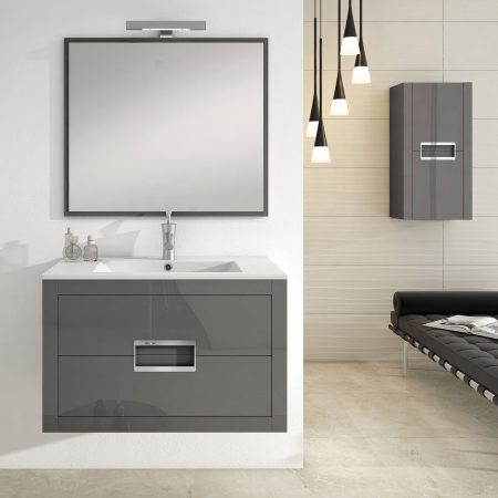 Mueble de baño ONIX grafito brillo