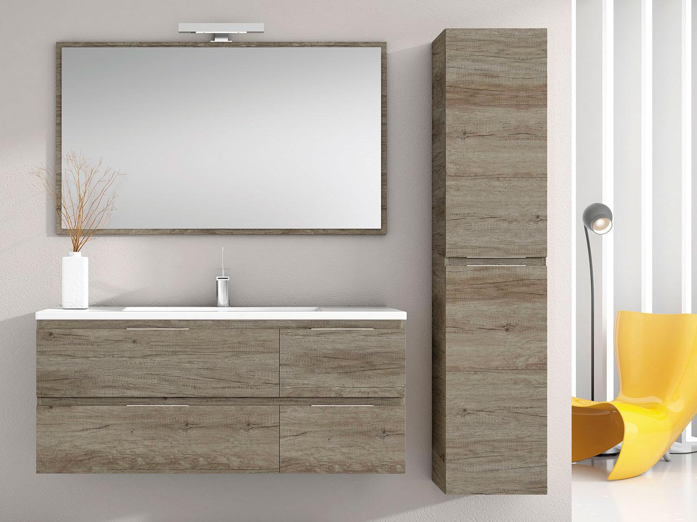 Espejo de baño enmarcado de madera FLORENCIA