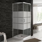 mampara de ducha cristal arenado