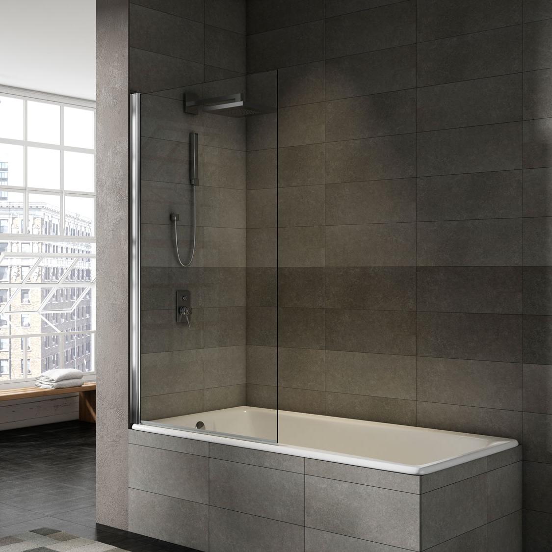 Mampara bañera abatible transparente