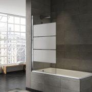 Mampara bañera abatible decorado