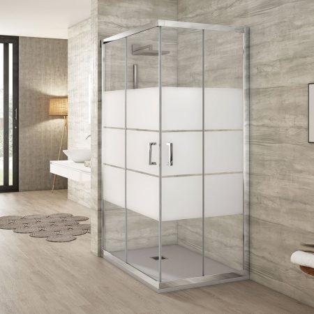 Mampara de ducha rectangular