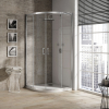 Mampara de ducha semicircular transparente