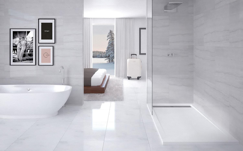 Plato de ducha blanco ÖPALO