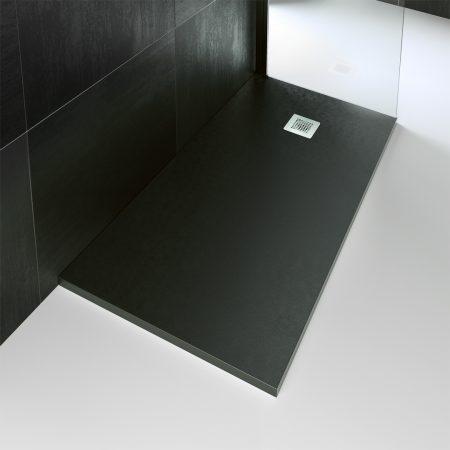 Plato de ducha de resina en NEGRO