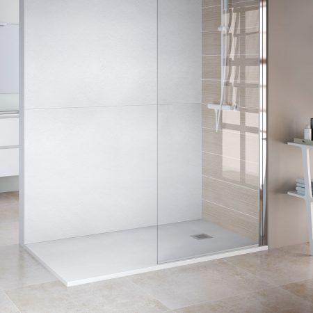 Panel de resina blanco ducha
