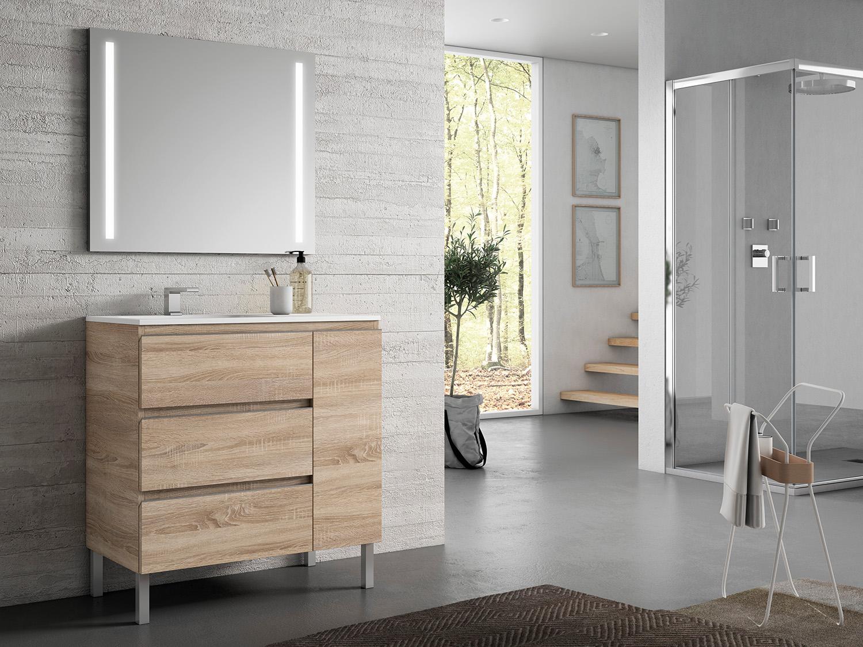 Mueble de baño MOD. IKUM en color ROBLE