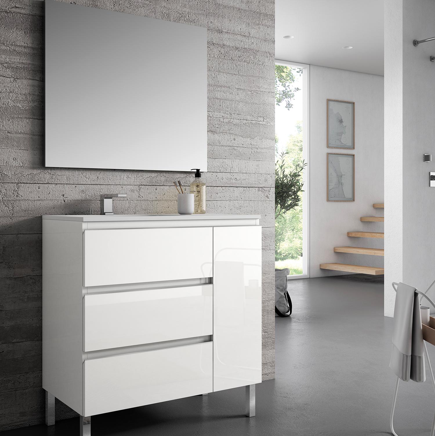 Mueble de baño MOD. IKUM en color BLANCO