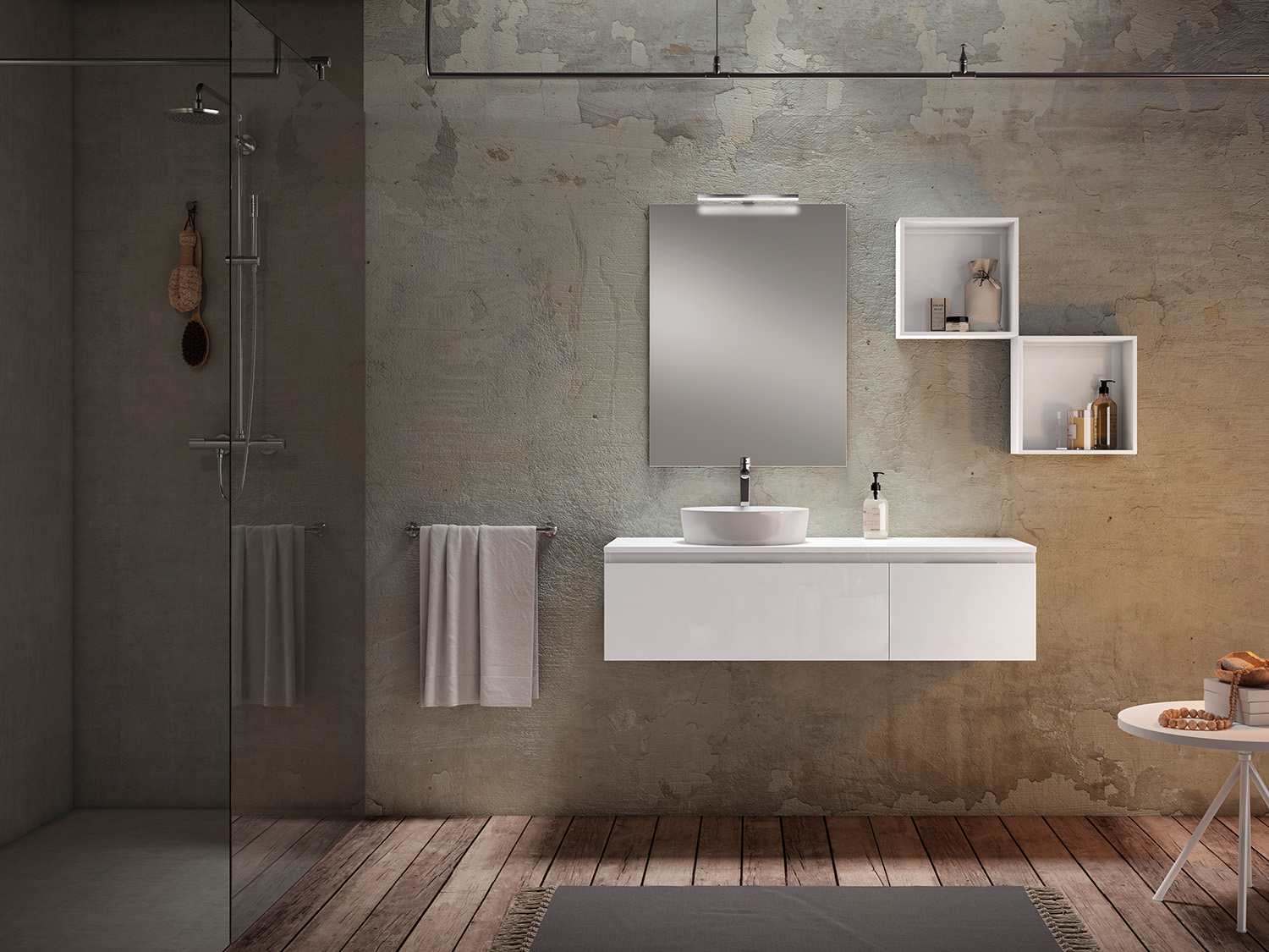 Mueble de baño MOD. PLAY color BLANCO BRILLO