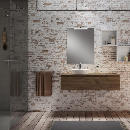 Mueble de baño MOD. PLAY color TABACO