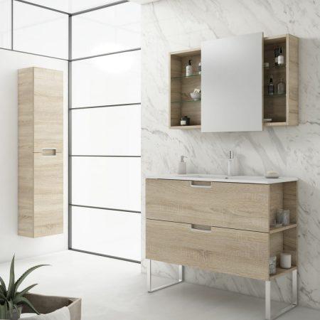 Patas en cromado para mueble de baño MOD. LINE
