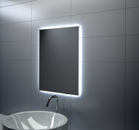 Espejo rectangular perimetral LED
