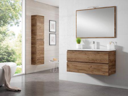 Mueble de baño MODELO ZENIA 2 cajones en TABACO