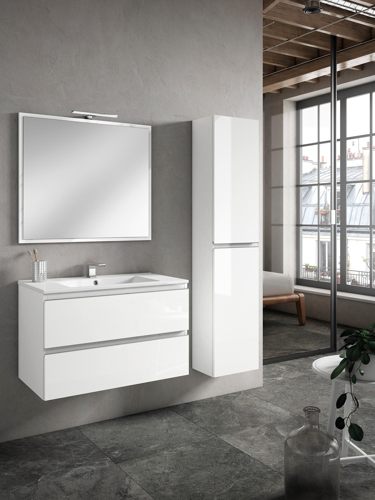 Mueble de baño MODELO ZENIA 2 cajones en color BLANCO